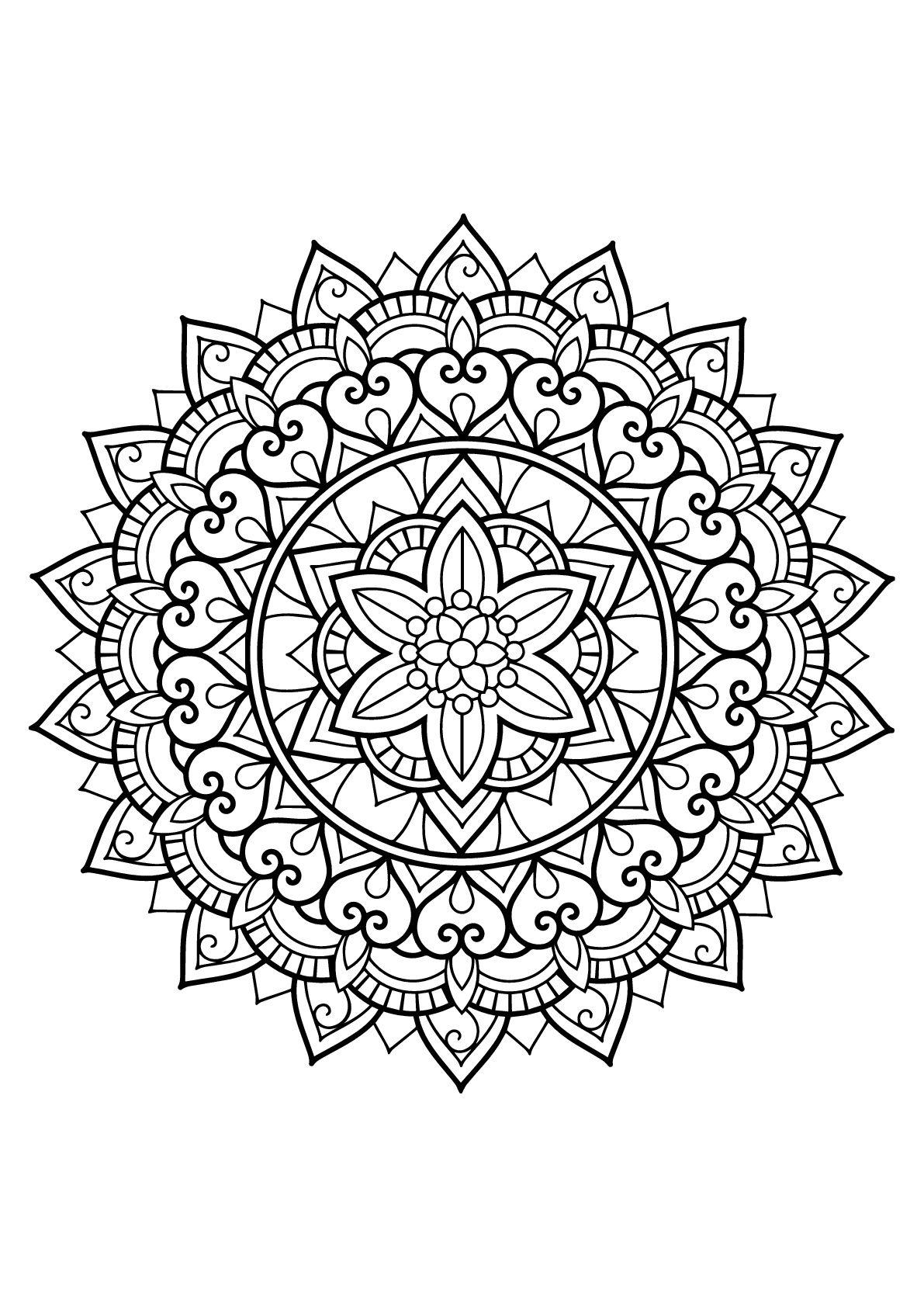 Pin On Adult Coloring Mandala