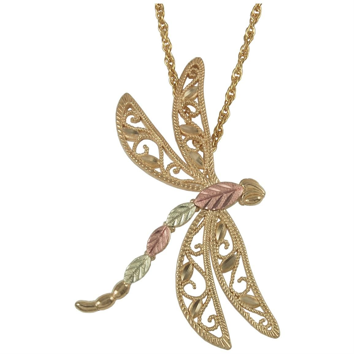 Pin by melissa white bonner on decorate me with nature pinterest click image above to buy black hills gold gold dragonfly 18 necklace aloadofball Gallery