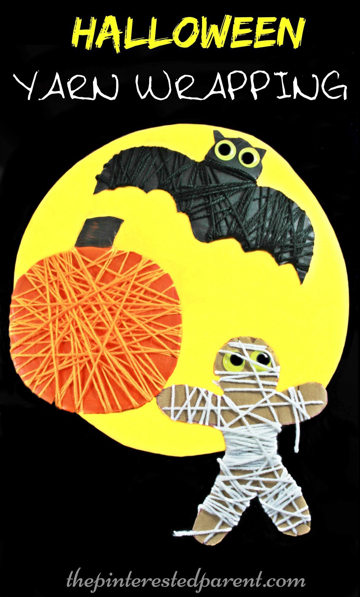 Yarn Wrapped Halloween Activity For The Kids Great For