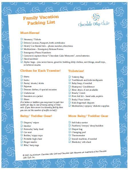 family vacation packing list VACATION TIPS/IDEAS Pinterest