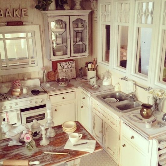 225 Best The Miniature Kitchen Images On Pinterest: My Latest Kitchen 1:12 Kim Saulter550 X 550