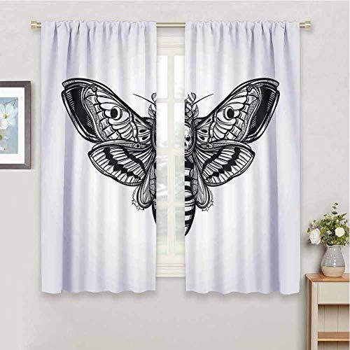 Houselook Skull Uv Protection Blackout Curtain Dead Moth Best Offer Storagevat Com In 2020 Blackout Curtains Curtains Insulated Curtains
