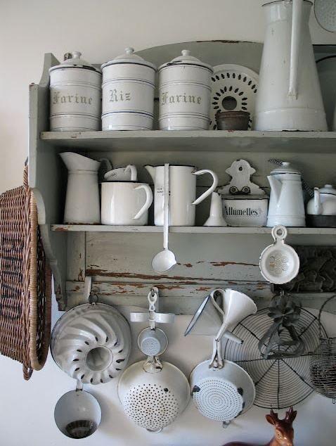 Vintage White Enamel