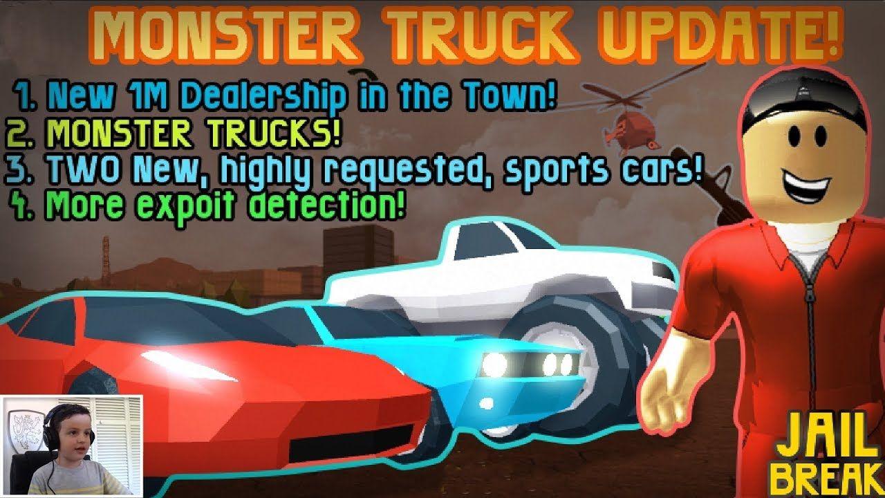 Insane New Monster Truck Ferrari Mustang Jailbreak In Roblox Upda Monster Trucks Roblox Mustang
