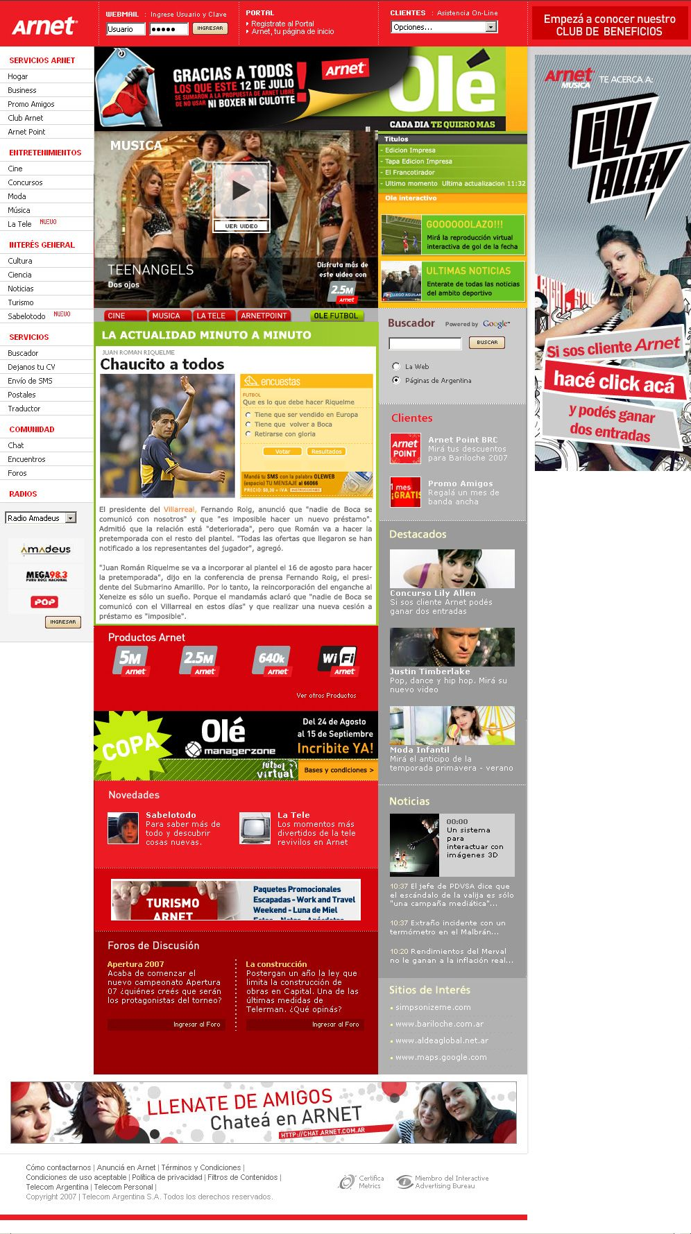 Saltamonte   Proyecto: Arnet / Ole - Cliente: Clarin Global