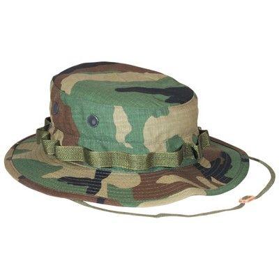 Woodland Camo Ripstop Boonie Hat - ArmyNavyShop.com