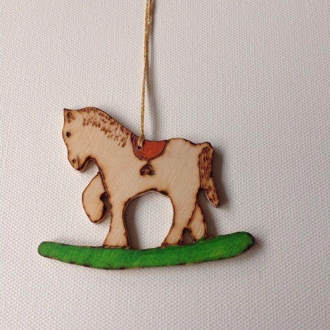 Rocking Horse Wooden Christmas Tree Decoration £600 Pop Sews The - wood christmas decorations
