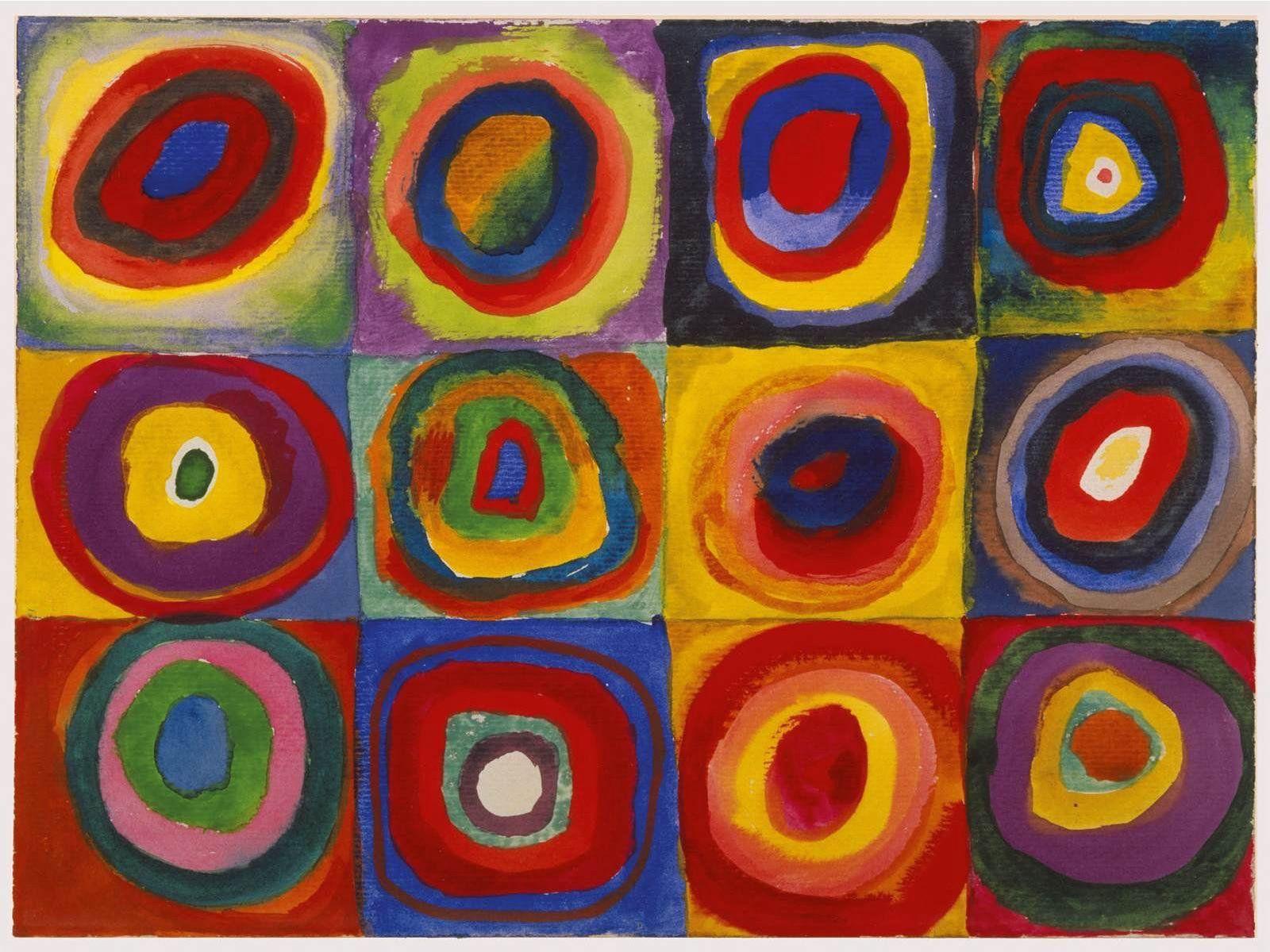 """Cuadrado con círculos concentricos"""", 1913. Wassily Kandinsky ..."""