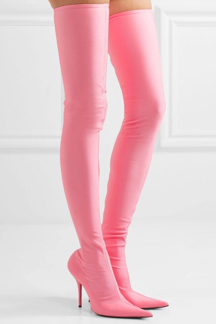 "8af5ad997ed8 Balenciaga ""Knife"" Thigh-High Boots in Pink"