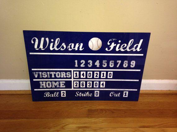 16x24 Aluminum Vintage Baseball Scoreboard