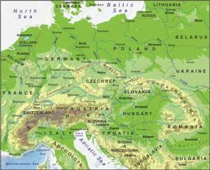 central europe physical map Central Europe geography | Central europe, Europe, Europe map