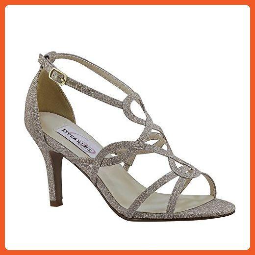 Dyeables 53816 53816 53816 Madison Damenss Sandales, Champagne Glitter, Größe 8 5e0a04