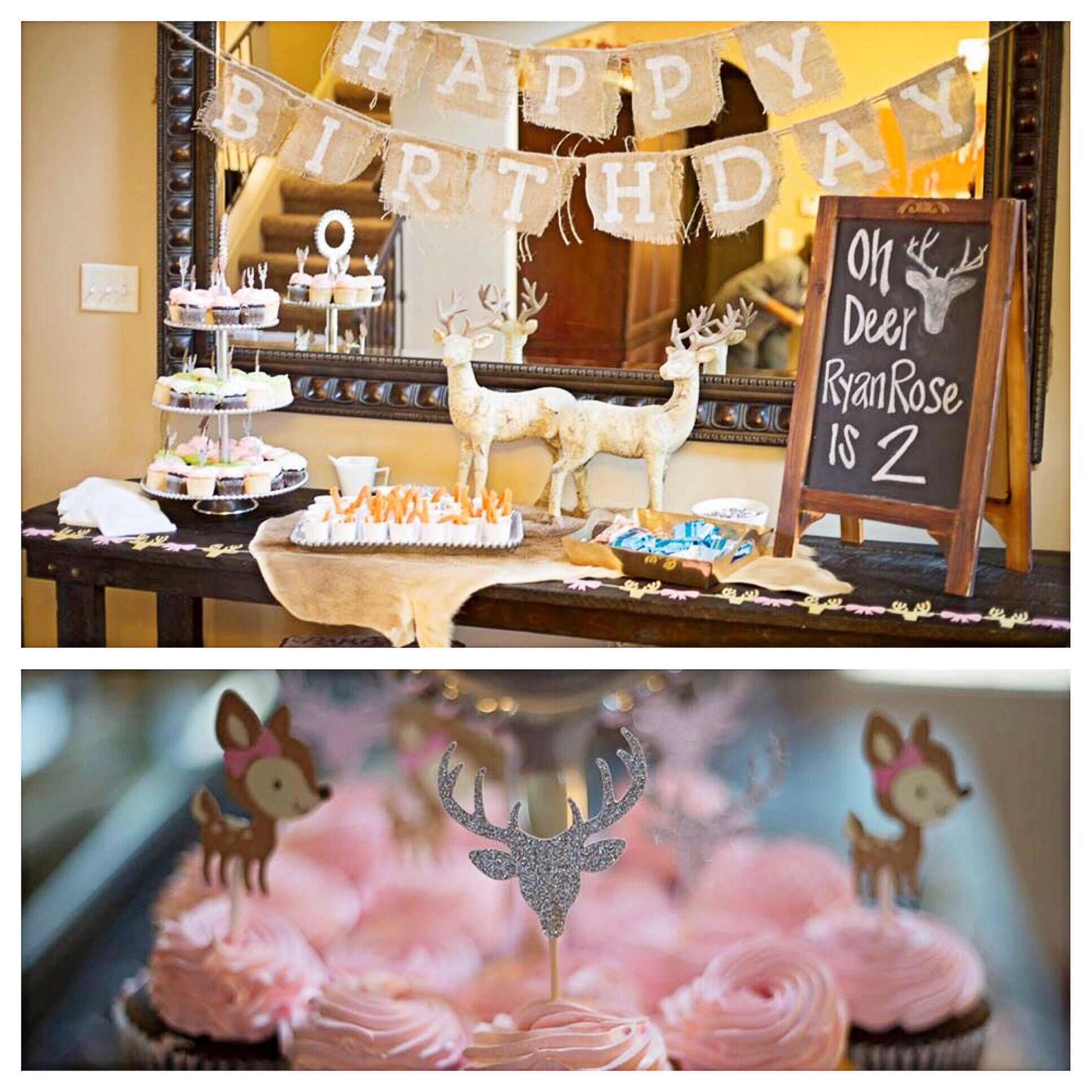 Oh Deer Ryan Rose is two Birthday Party Ideas Pinterest