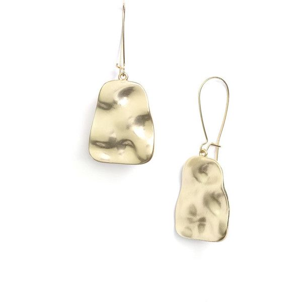 Nordstrom 'Gold Water' Textured Drop Earrings, found on polyvore.com