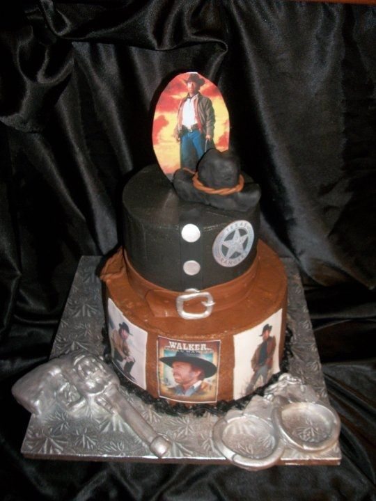 Superb Walker Texas Ranger Birthday Cake Google Search With Images Personalised Birthday Cards Sponlily Jamesorg