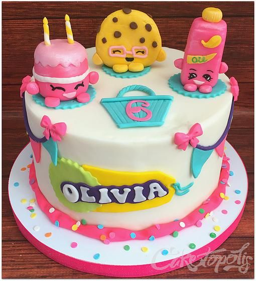 Shopkins Birthday Cake With Images Shopkins Birthday Cake
