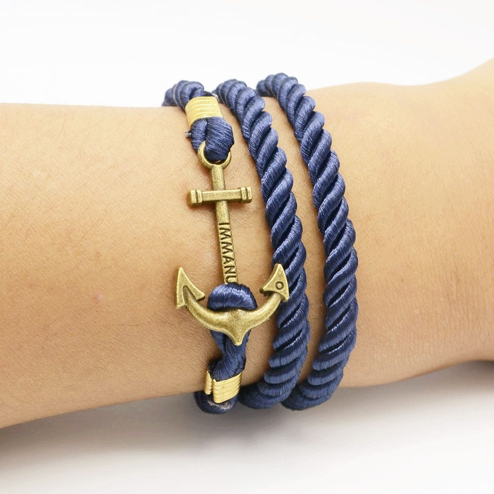 Handmade Braided Diy Bracelet Men Anchor Bracelets For Women Best Gift Tom Hope Whole Fashion Bookface Leading Global Online Ping Site