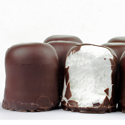 Chocolate dipped Marshmallows #marshmallows
