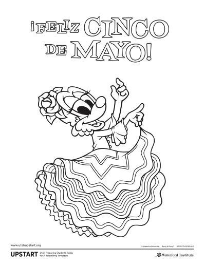 Cinco De Mayo Coloring Pages Cinco De Mayo Coloring Pages De Mayo