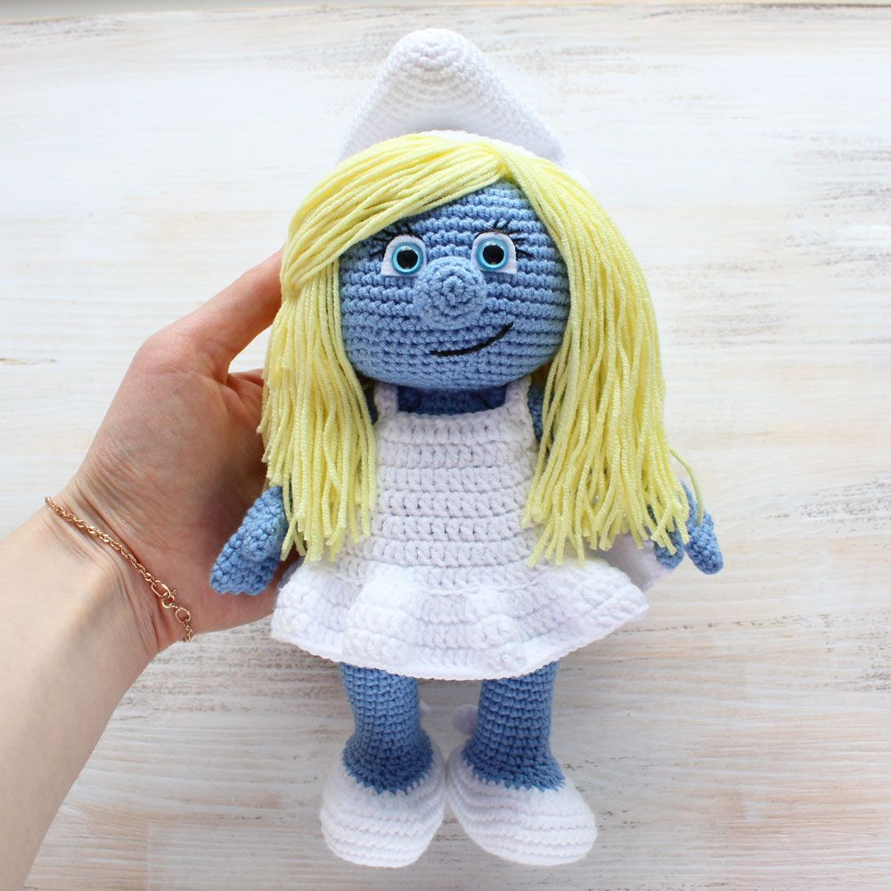 Let your mind wander into the fancy world of the smurfs with these let your mind wander into the fancy world of the smurfs with this super soft crochet smurfette use our free smurfette amigurumi pattern to create the bankloansurffo Image collections