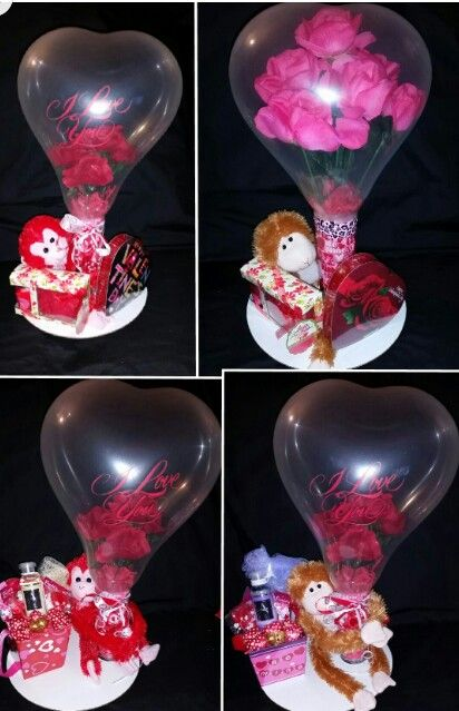 Stuffed balloon gift set by niftygiftsbystacy stuffed for Balloon decoration machine