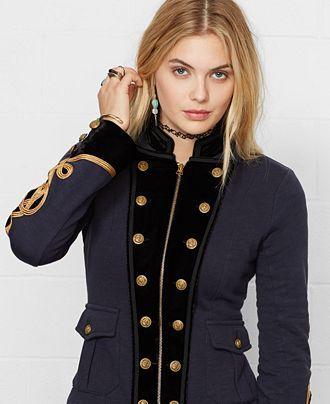 Denim & Supply Ralph Lauren Officer's Jacket - Jackets - Women - Macy's