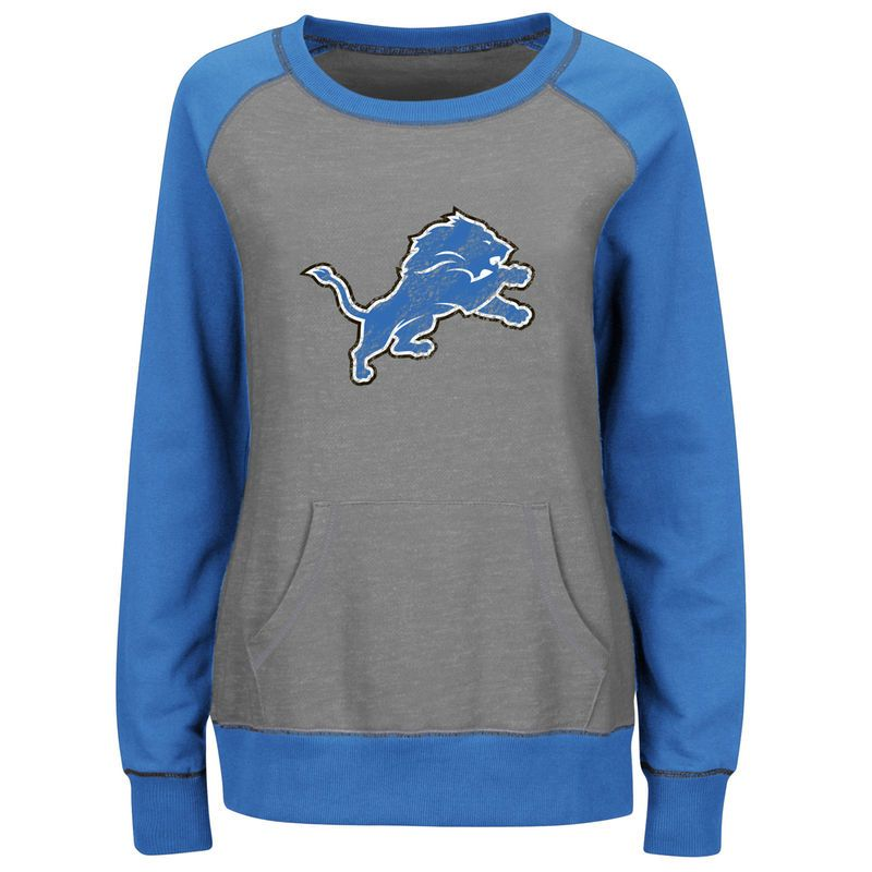 check out ae3bf b73ec Detroit Lions Majestic Women's Overtime Queen Crew Neck ...