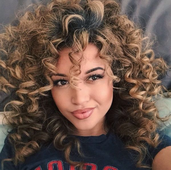 Tight And Fun Curls Created With Curling Iron With A Smaller