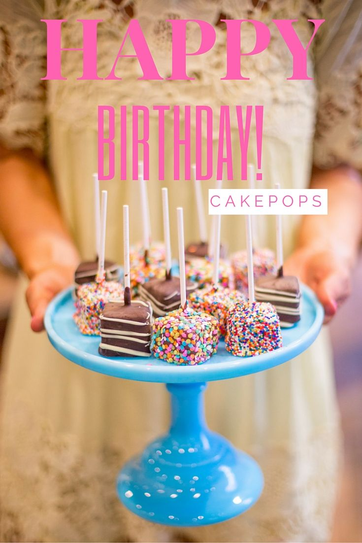 Happy Birthday Cake Pops Are A Sweet And Easy Way To Celebrate Photo By Jenny Cookies