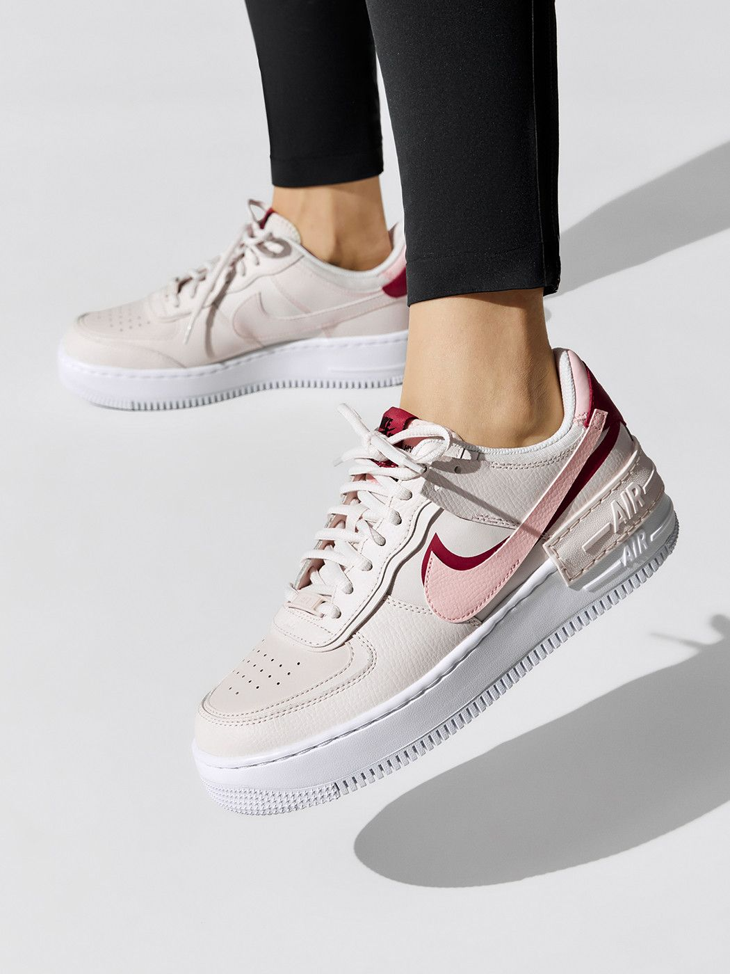 Nike Air Force 1 Shadow Phantom White Red Pink Ci0919 003 In 2020 Sneakers Fashion Nike Shoes Air Force Nike Air Shoes