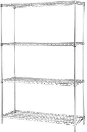 Lorell Industrial Chrome Wire Shelving Starter Kit - 36 ... on 24 deep lockers, 24 deep freezer, 24 deep sinks, 24 deep refrigerator, 24 deep table, 24 deep wardrobe, 24 deep sofa,