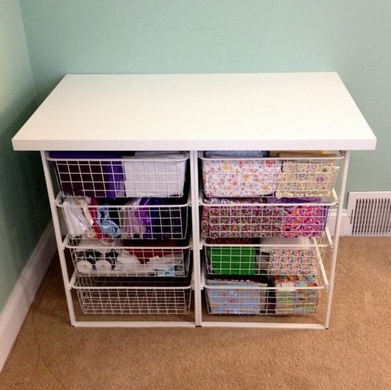 Cheap & Easy Fabric Storage Station - 20 Creative and Useful DIY Projects for Home Improvement