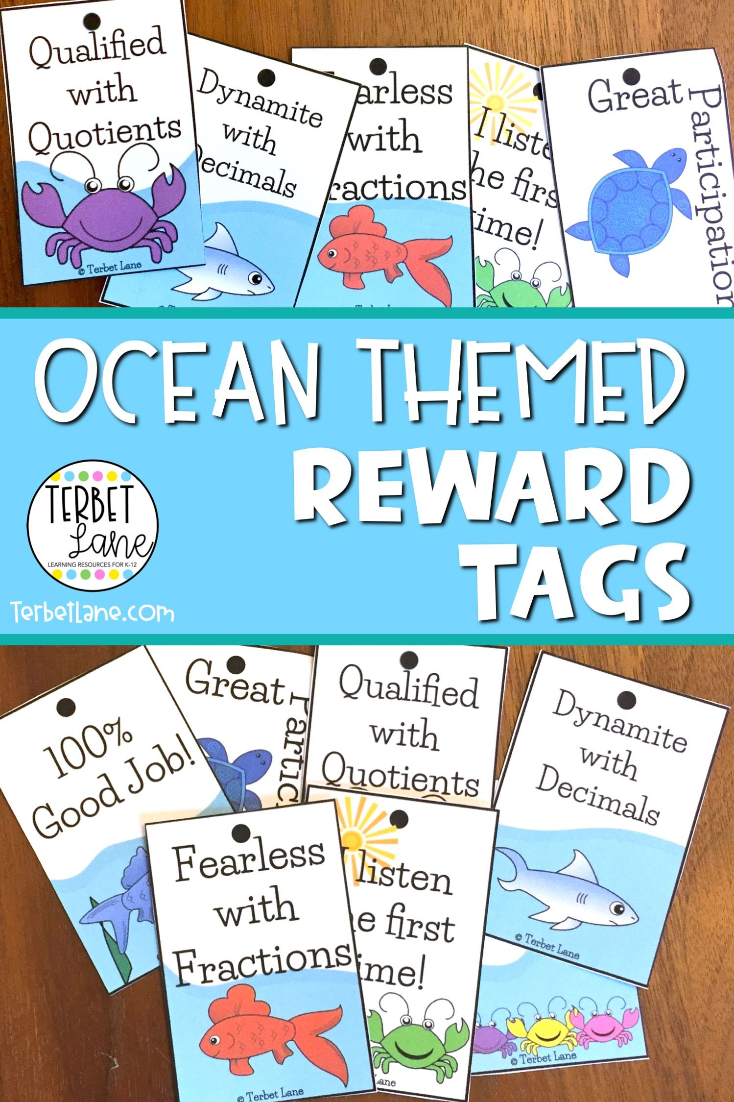 These Ocean Themed Reward Tags Are The Perfect Way To Show