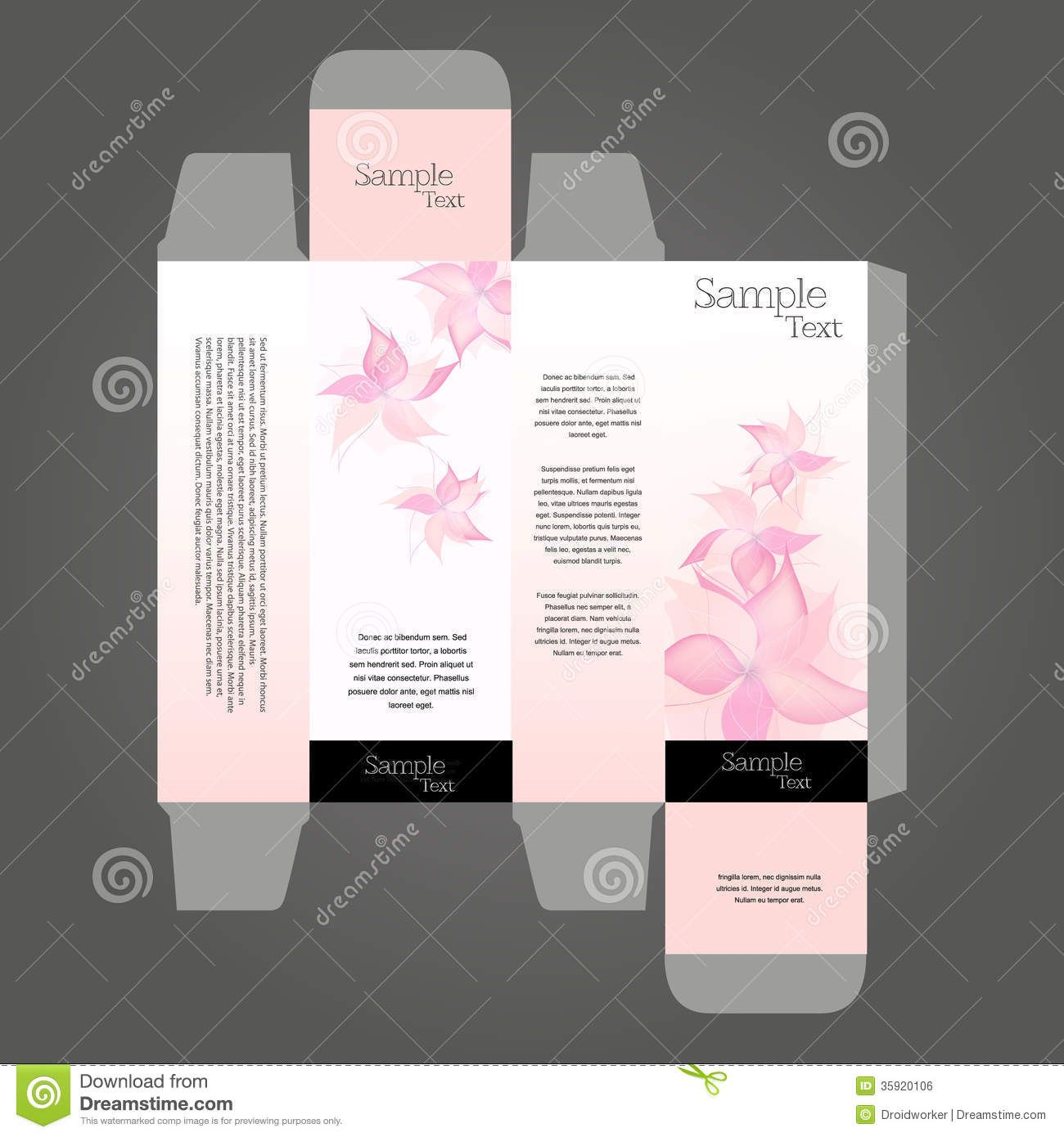 Perfume box design perfume box design in editable vector for Cologne box template
