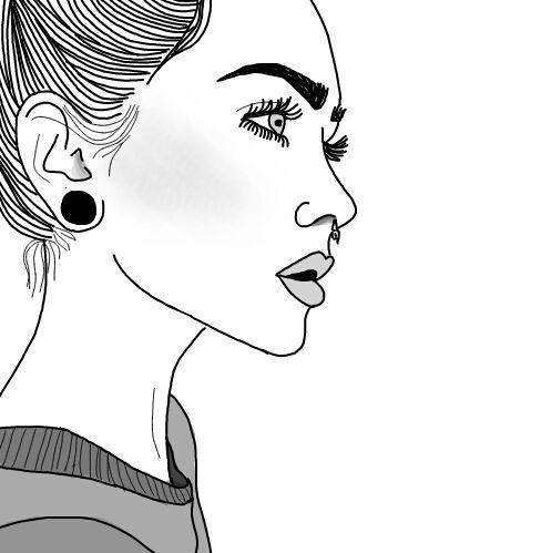 tumblr tumblroutlines outlines girl doodles in 2019 pinterest zeichnen zeichnung. Black Bedroom Furniture Sets. Home Design Ideas