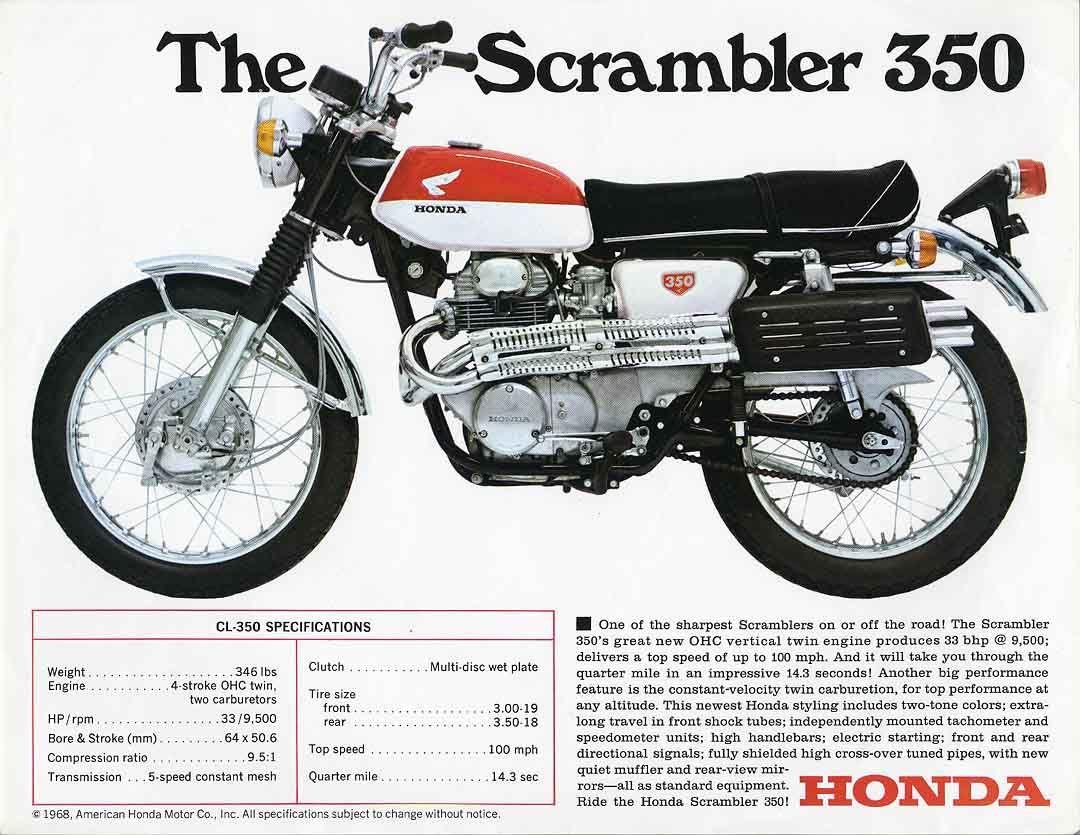 The Cl350 Scrambler Honda Scrambler Vintage Honda Motorcycles Honda [ 835 x 1080 Pixel ]