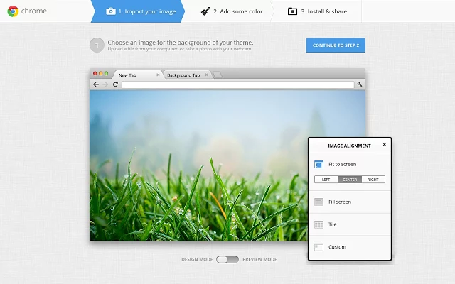 official chrome theme maker extension from google chrome