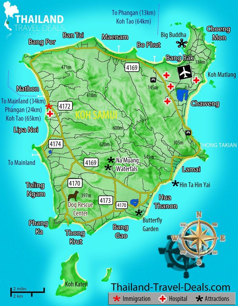 Thailand - Koh Samui map - going here in 2016 for our son's wedding :)