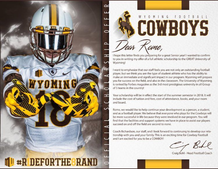 Wyoming Athletic Scholarships College Football Teams Student Athlete