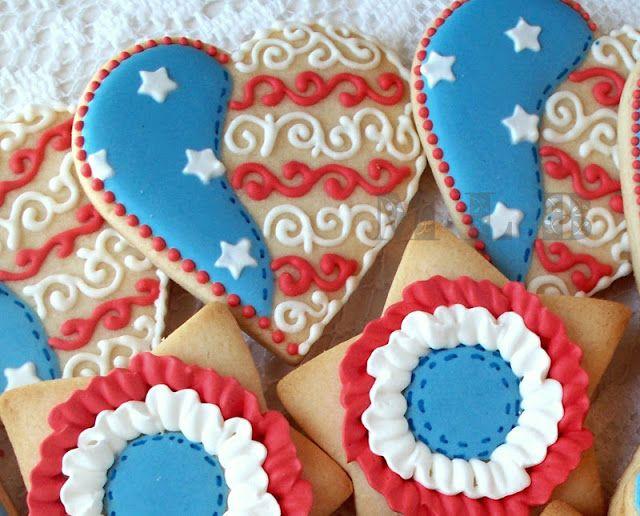 My little bakery :): Patriotic cookie set