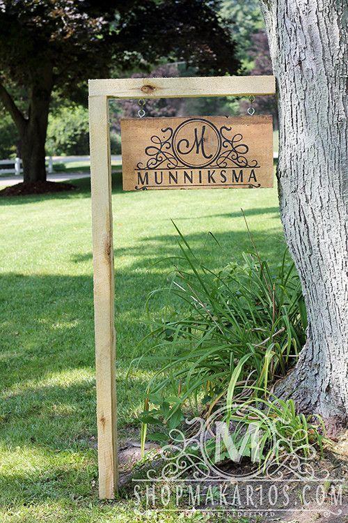 Custom Campsite  Yard  Garden Outdoor Sign