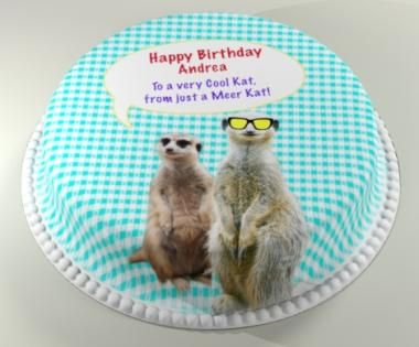 Personalised Cakes For All Occasions - Baker Days Meercat Cake. The Perfect Gift Cake For Any Party Or Celebration