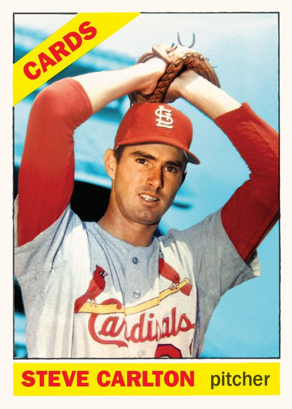 1966 Topps Carlton Card That Never Was 1966 Topps Baseball Cards