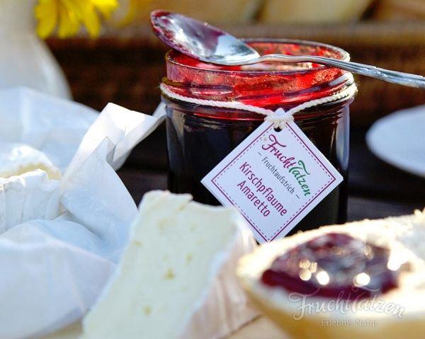 handgemachte marmelade kirschpflaume amaretto das perfekte geschenk f r die beste freudin oder. Black Bedroom Furniture Sets. Home Design Ideas