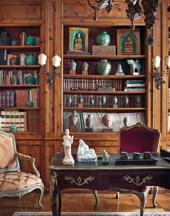The Dani and Anna Ghigo Asian Art Collection ... Housed in the Ghigo ancestral home on the hillside of Turin - The Library.