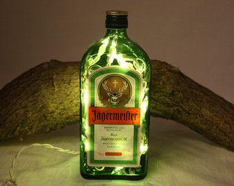 Retro Kühlschrank Jägermeister : Alkohol flasche licht upcycled jägermeister alkoholflasche dekor