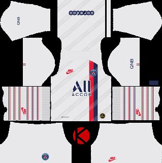 Paris Saint Germain Psg 2019 2020 Third Kit Dream League Soccer Kits Psg Soccer Kits Paris Saint Germain