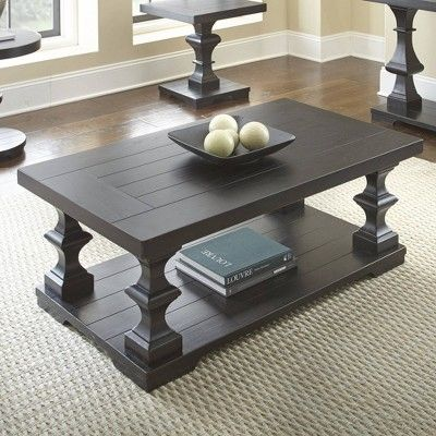 Best Dory Cocktail Table Black Steve Silver 4 Piece Coffee 400 x 300