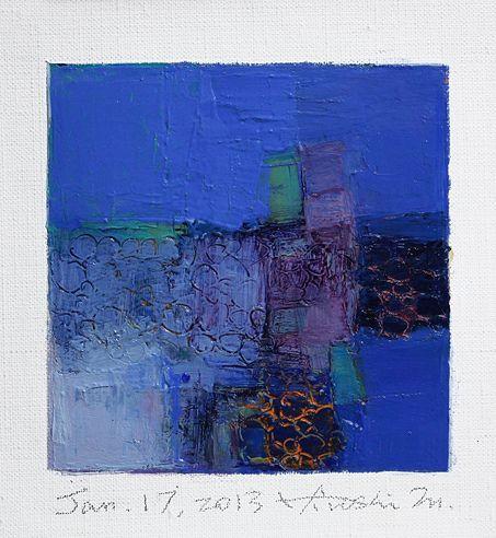 jan172013 | oil on canvas 9 cm x 9 cm hiroshi matsumoto www.… | Flickr