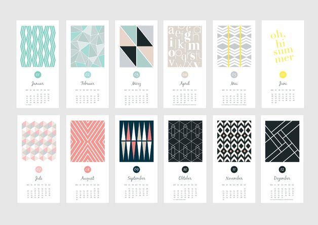 wandkalender wandkalender 2015 grafisch muster ein designerst ck von annamainz bei. Black Bedroom Furniture Sets. Home Design Ideas